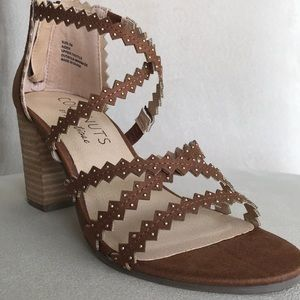 Coconuts by Matisse Brown Suede Block Heel Anthro